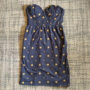 Anthropologie Floreat polka dot dress